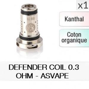 Résistance Defender coil 0.3ohm / 1 pièce