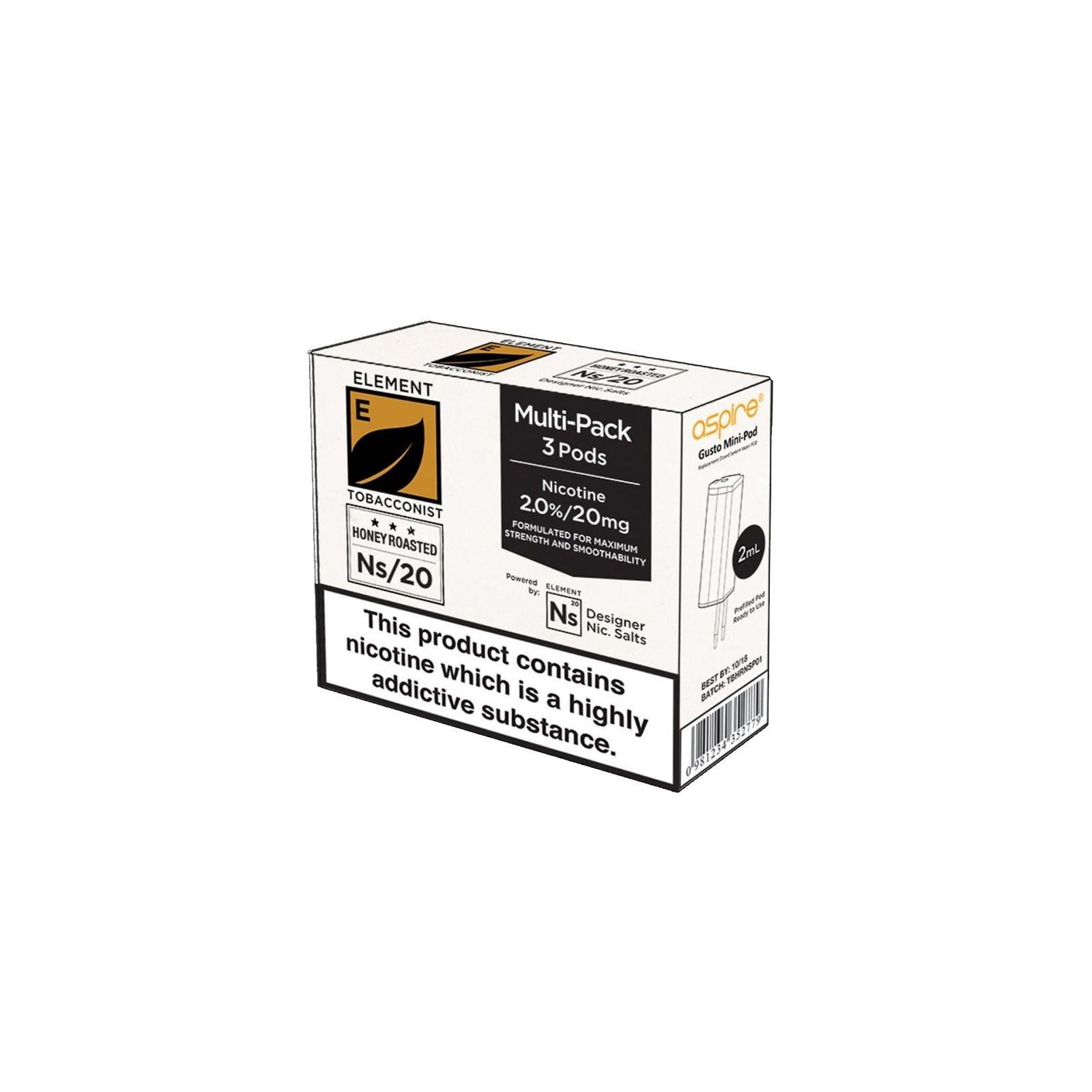 Pod Gusto NS Element – Honey Roasted Tobacco