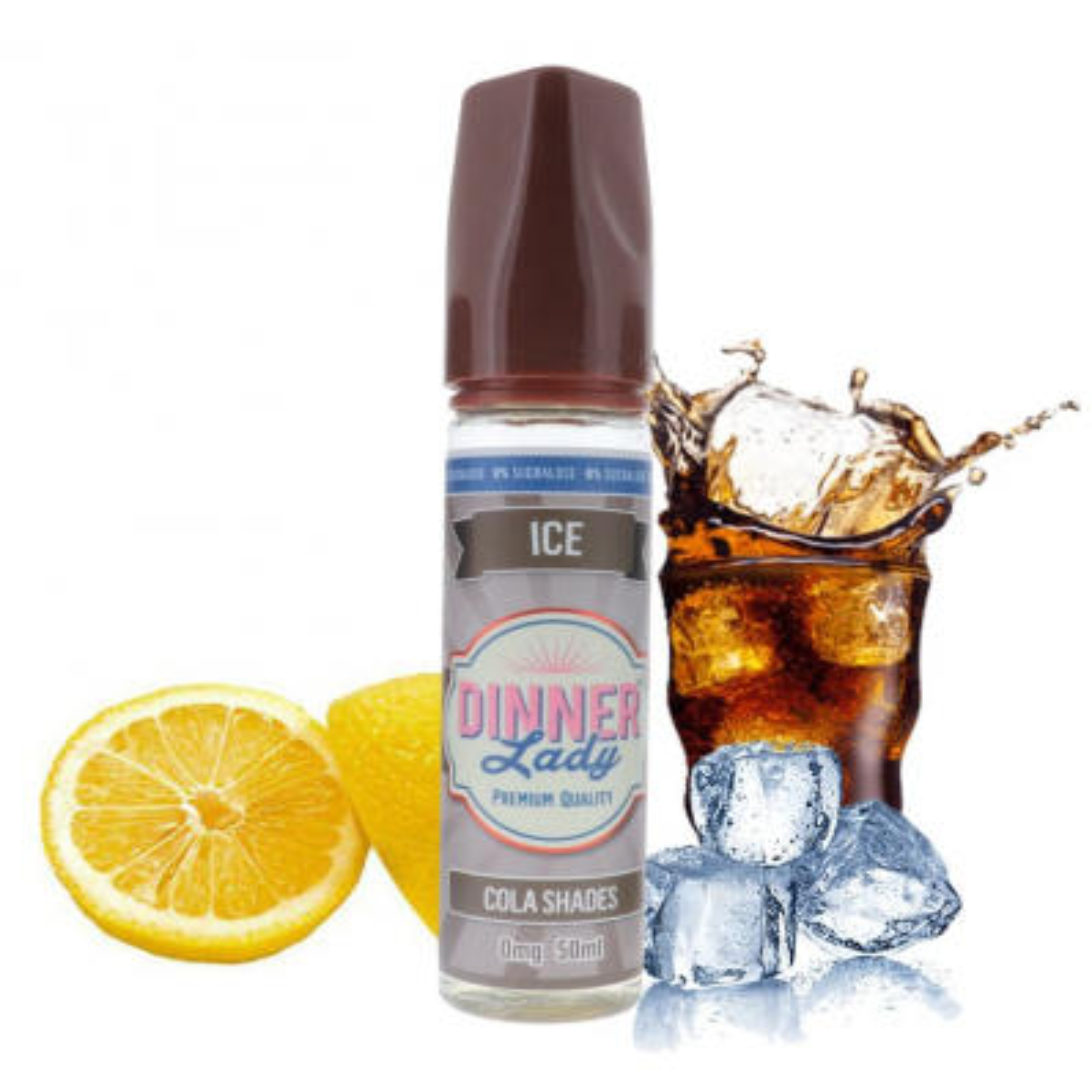 Cola Shades Ice 0% sucralose 50ml - Dinner Lady