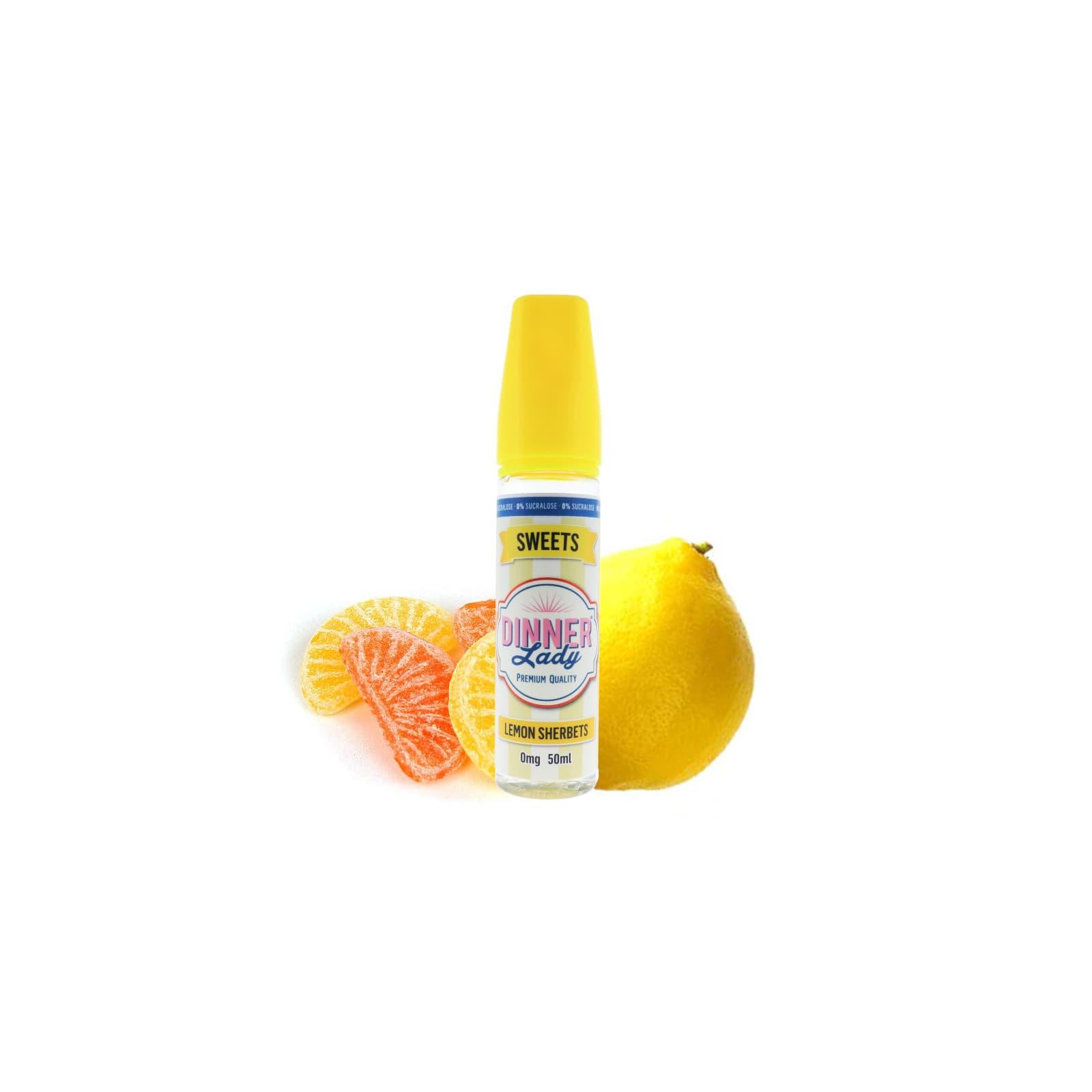 Lemon Sherbets 0% sucralose 50ml - Dinner Lady
