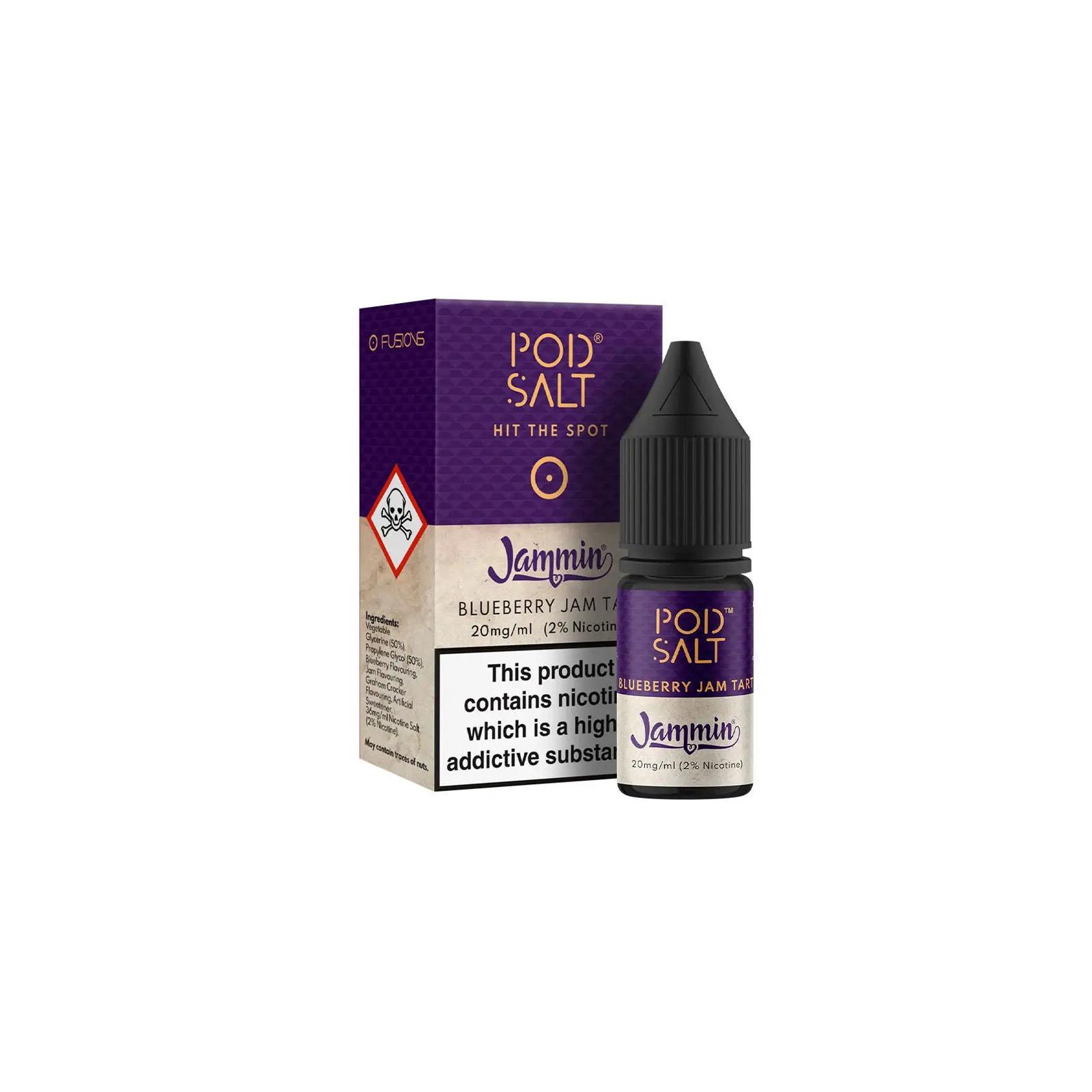 "Sel De Nicotine ""Blueberry Jam Tart"" 10ml - Pod Salt"
