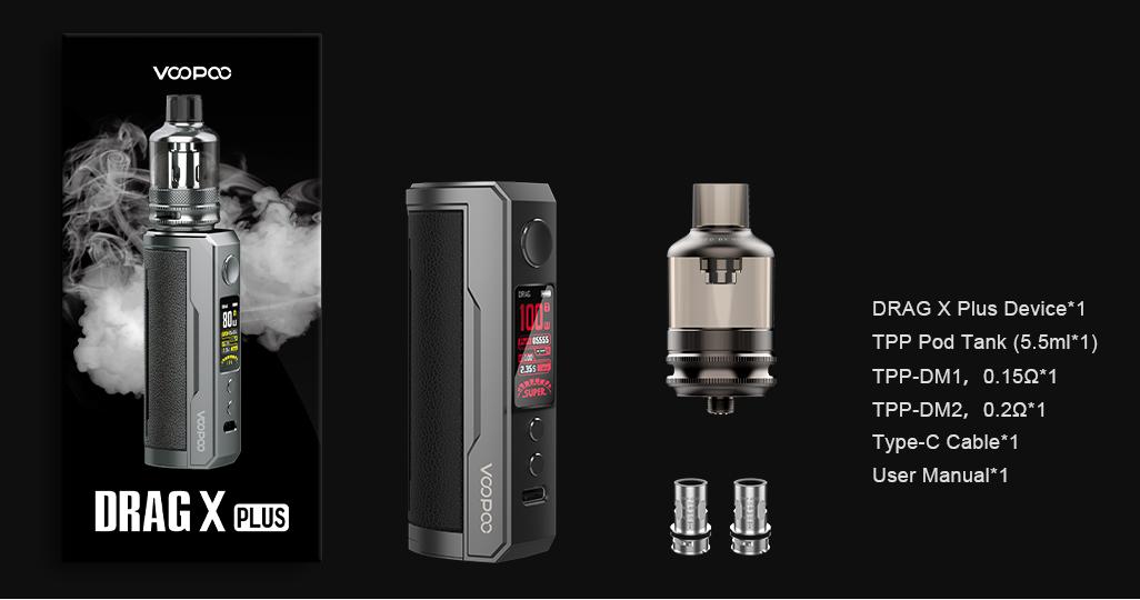 Kit Drag X PLUS Voopoo | Cigarette electronique | Le Petit Fumeur
